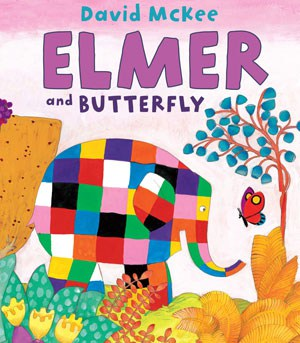 Elmer and Butterfly cover