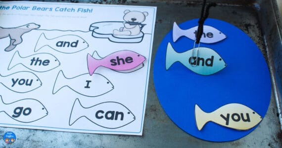 polar bear sight word activity