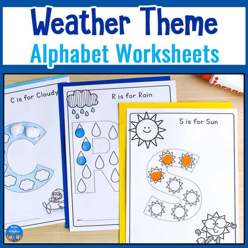 weather theme alphabet worksheets