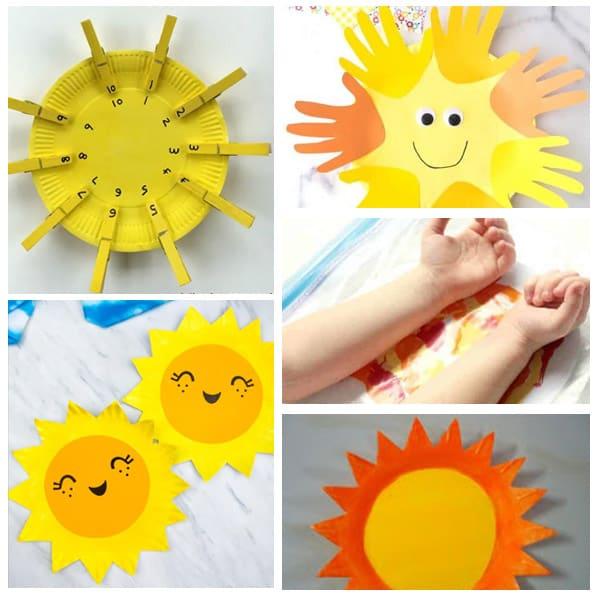 paper plate sun crafts