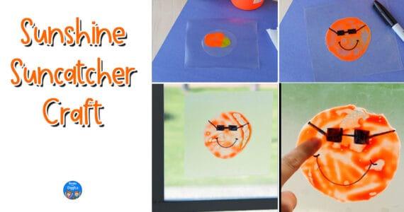 suncatcher craft collage